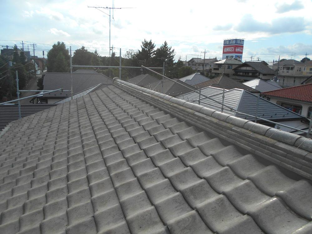 大屋根葺き戻し工事